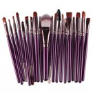 20* Pro Makeup Set Powder Foundation Eyeshadow Eyeliner Lip Cosmetic Brushes  Purple