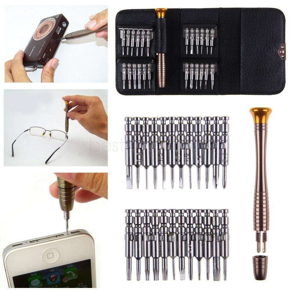 Precision Screwdriver Micro Mini Set 25pc Laptop Mobile Glasses Jeweller Watch tt