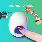 Mini USB UV Nail Gel Curing Lamp Light Nail Gel Polish Dryer Nail Art Machine white