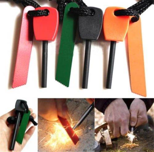 Magnesium Flint Stone Fire Starter Lighter Emergency Survival Camping Gear Kittt