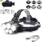 90000LM 5X XML T6 LED Headlamp Rechargeable Head Light Flashlight Torch LampPP