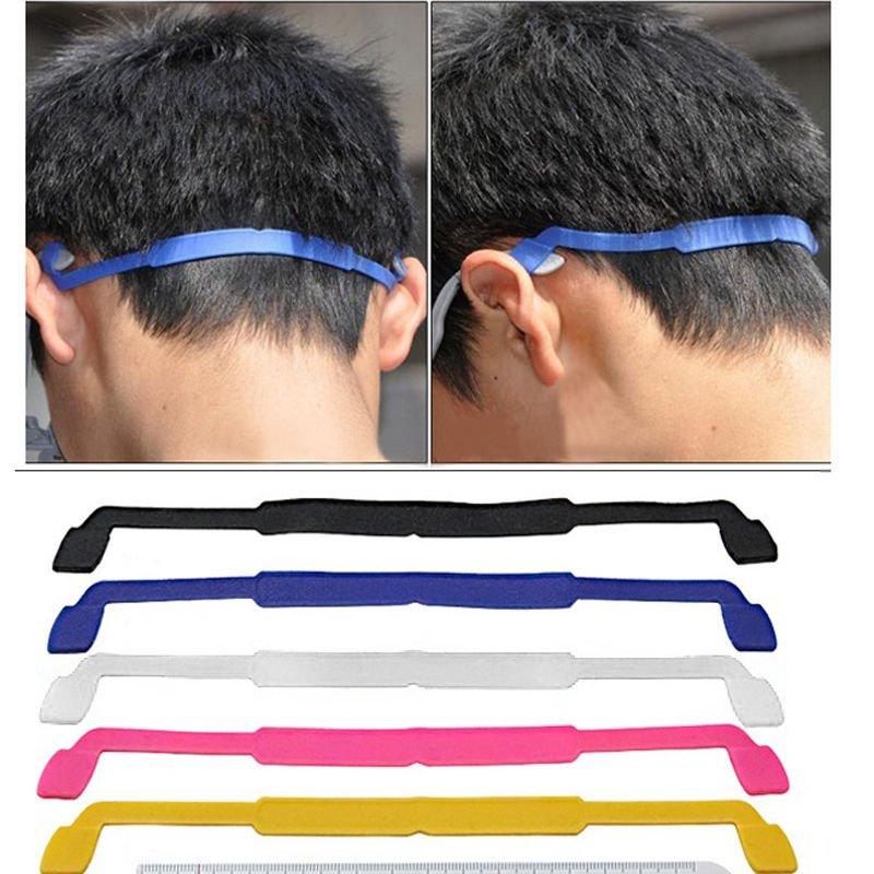 2 x Silicone Eyeglasses Strap Glasses Sunglasses Sports Band Cord Holder random color