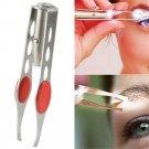 LED Light Make Up Eyelash Eyebrow Removal Tweezer one