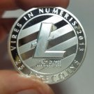 Silver Plated LTC Coin Commemorative Physical Litecoin Collectible Miner Coinn
