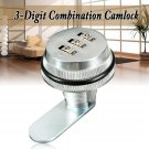 3-Digit Code Combi Combination Cam lock Keyless Post Mail Box Cabinet RV Chrome.