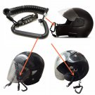 Motorcycle Helmet Lock & Cable Black Tough Combination PIN Locking Carabinerrr.