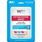 2 x Net10 Keep Your Own Phone 3-in-1 Prepaid SIM Card Kit