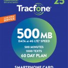Tracfone Smartphone Only Plan - 60 Days/500 Minutes/1000 Text/500MB Data ..
