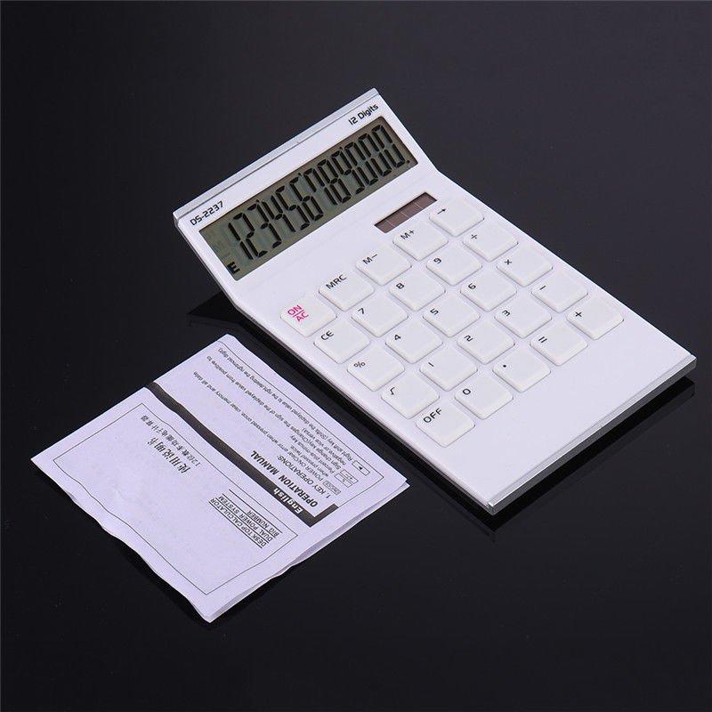 12 Digit Desk Calculator white