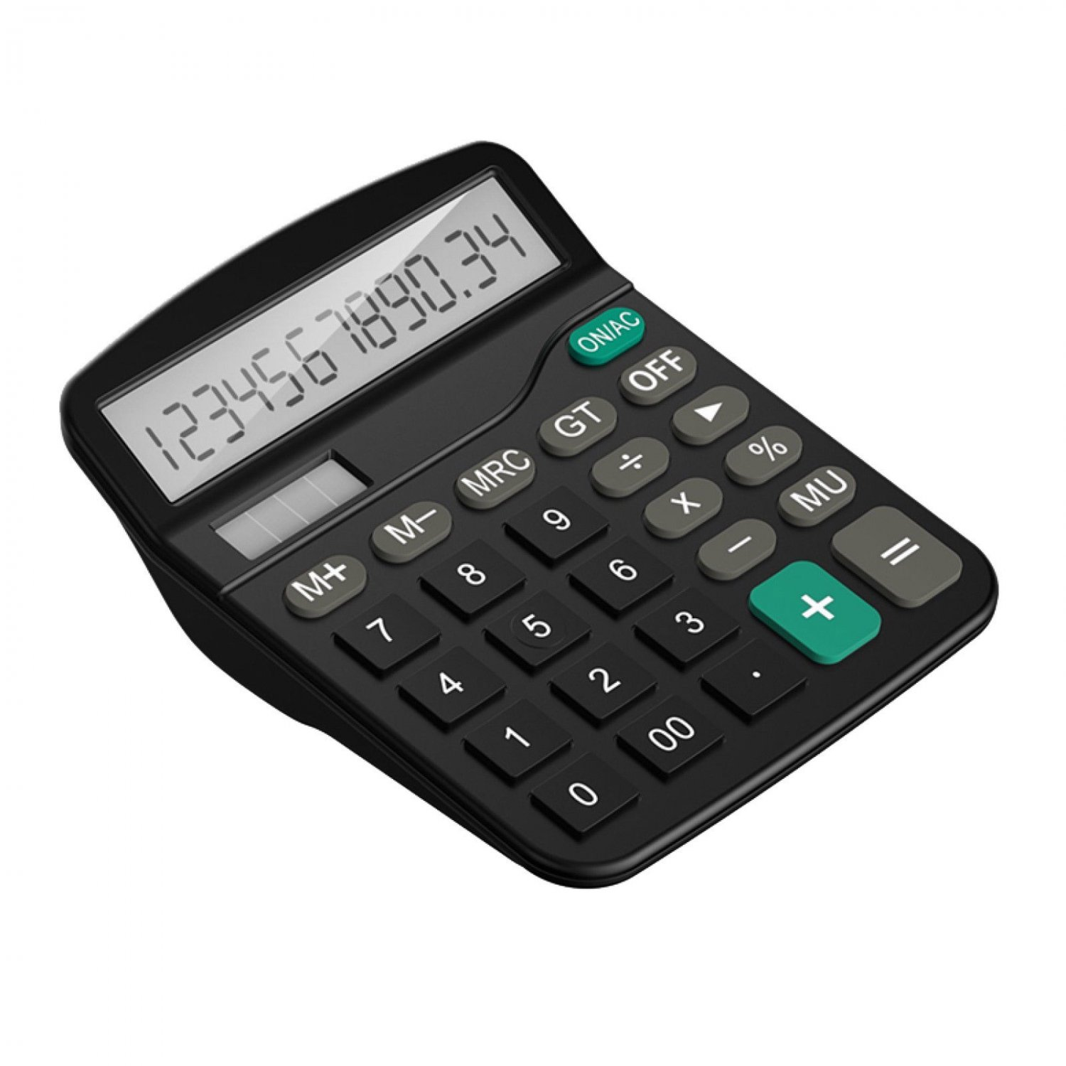 Desktop Calculator 12-digit LCD Display black