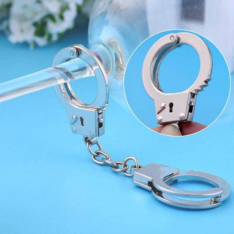 5 Pcs Keychain Mini Size Handcuffs