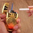 Windproof Jet Torch Gas Butane Cigarette Lighter Quartz Watch Lighter