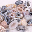 5 x Raw Stones Slice Natural Crystals Halves Agate Geodes Collection 1-3.5cm