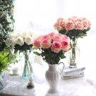 10 stems Artificial Floral Silk Fake Flower Bouquet red silk rose flower