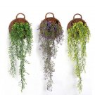 2 Pcs Yellow color Artificial Fake Silk Flower Vine Hanging Garland Home Decor