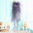2 Pcs Purple color  Home Decor Artificial Fake Silk Flower Vine Hanging Garland