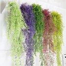Home Decor Artificial Fake Silk Flower Vine Hanging Garland 2 Pcs Rose color