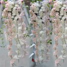 2M Light Blue  Hanging Sakura Rattan Garland Vine Wall Home Decor