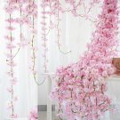 2M Pink  Hanging Sakura Rattan Garland Vine Wall Home Decor