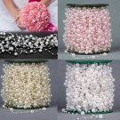 5M Wedding Pearl Acrylic Wedding Party Decoration White color x3