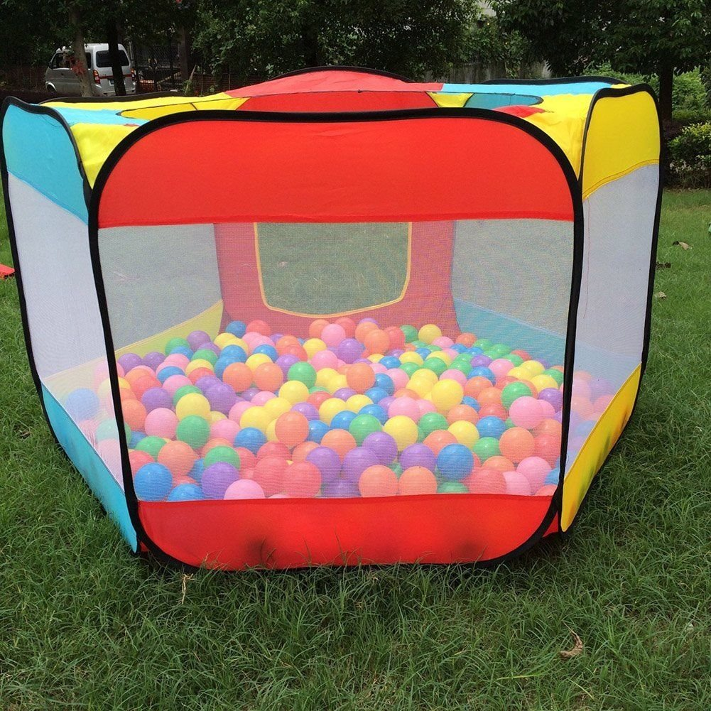 Kids Play House Ball Tent Indoor Outdoor Easy Folding Ball Pit Hideaway Play Hut new