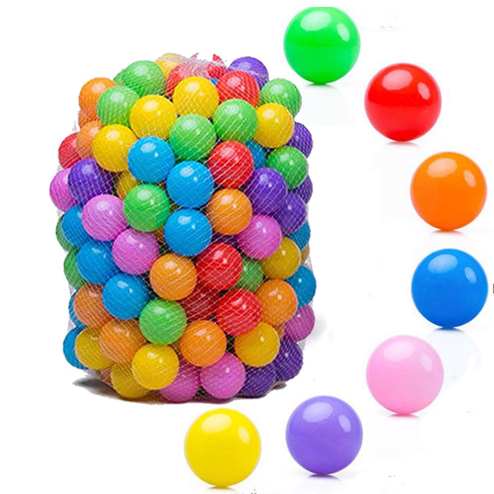 100pcs Quality Secure Baby Kid Pit Toy Swim Fun Colorful Soft Plastic Ocean Ball colorful