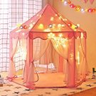 Princess Castle Play House Children Fun Netting Outdoor Kids Play Tent PINK