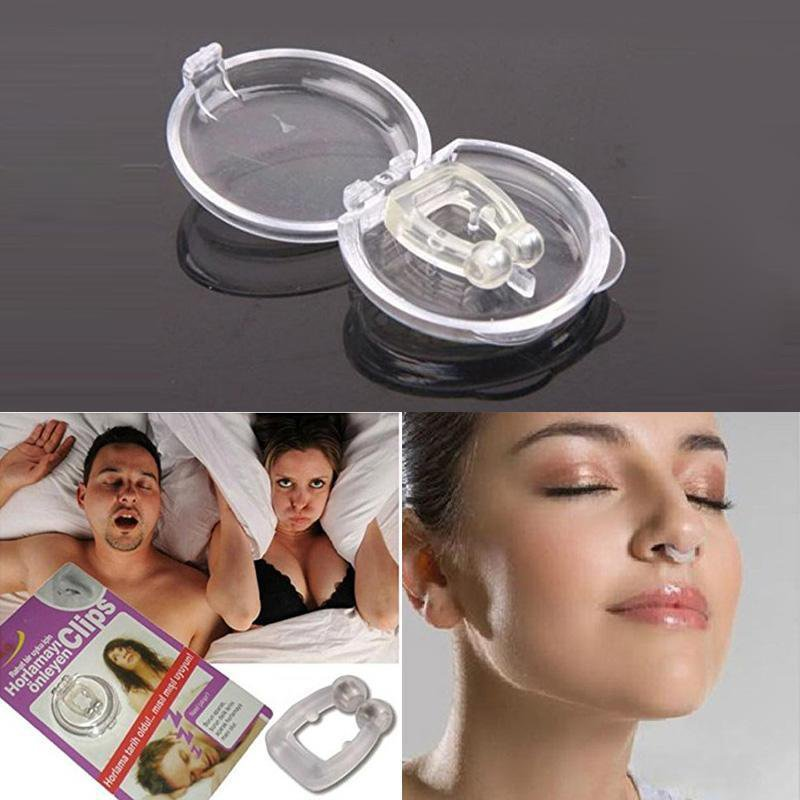 Anti Snore Stop Snoring Sleep Apnea Strap Belt Jaw Solution Support Aid Magnetic  Free Nose Clip