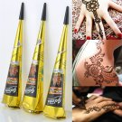 2 x Natural Herbal Henna Cones Temporary Tattoo kit Black Body Art Paint Mehandi Ink