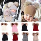 1 x Baby Toddler Girls Boys Infant Warm Winter Knit Beanie Hat Crochet Ski Ball Cap new
