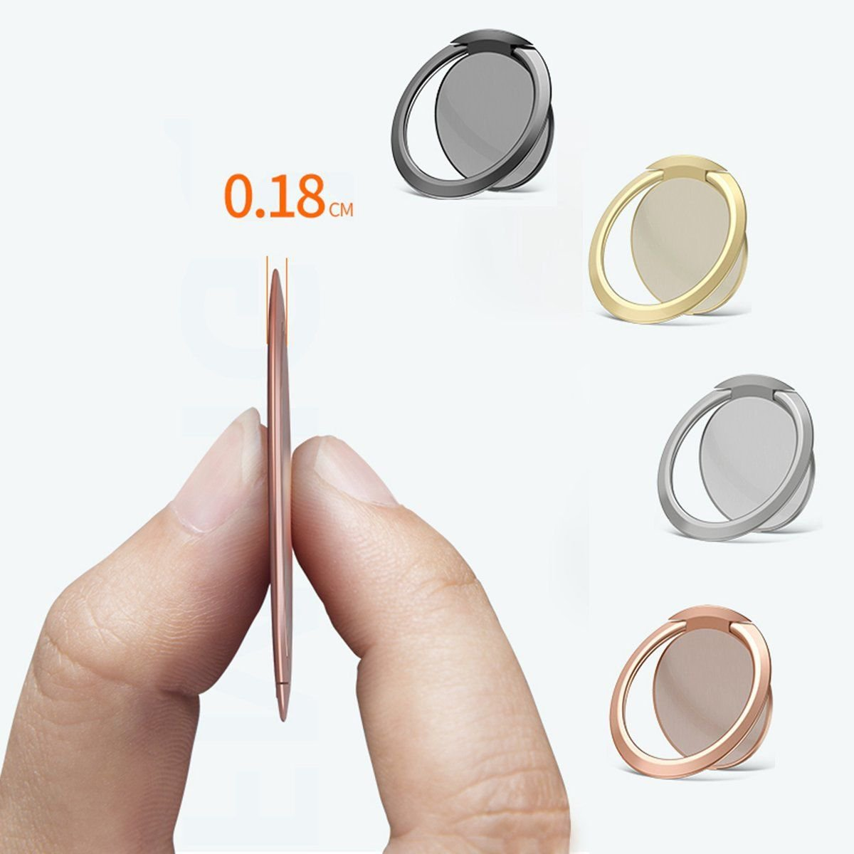 1 Pcs Ultra Thin Magnetic Phone Holder Mount Finger Ring Stand For Cell Phone Tablet