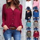 Fashion Womens Long Sleeve Loose Blouse Casual Shirt Summer Chiffon Tops T-Shirt  New