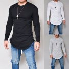 Men's Slim Fit O Neck Long Sleeve Muscle Tee Shirts Casual T-shirt Tops Blouse new
