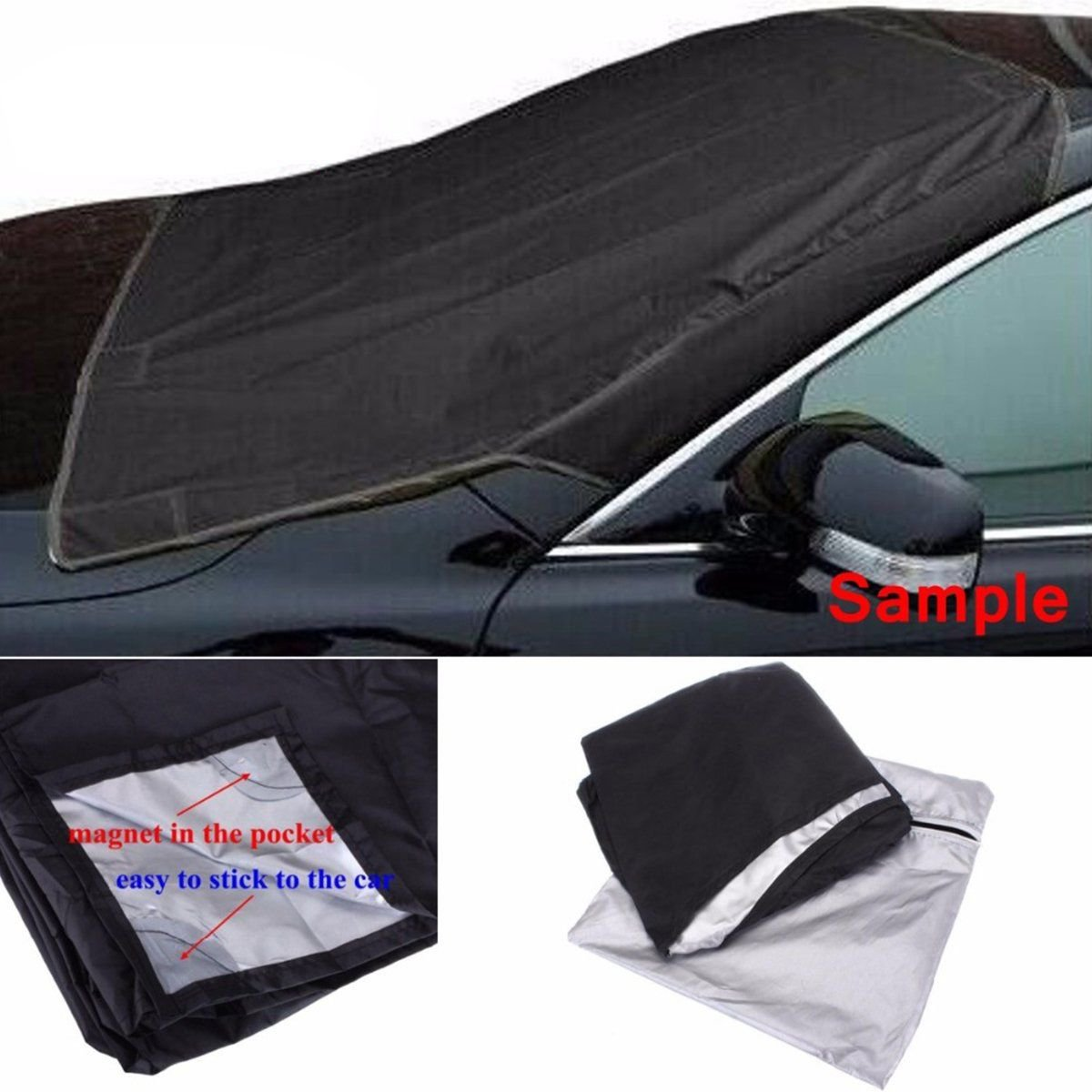 Car Truck Van SUV Magnet Windshield Cover Sun Shield Snow Frost Freeze Protector x 1