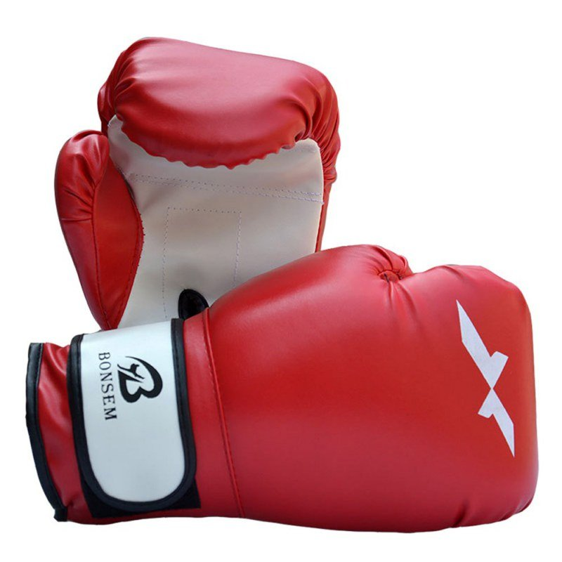 PU Leather Boxing Gloves Punching Mitten Muay Thai Boxing Gloves Equipment Boxer Accessory