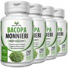 4 BOTTLES Memory Booster Pure ORGANIC BACOPA MONNIERI EXTRACT Brahmi Mental Focus Capsules EF