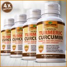 4 Turmeric Black Pepper BioPerine 10,000mg Extract Tumeric Extra Strong Capsules  WL