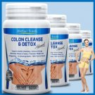 2 BOTTLES COLON CLEANSE CAPSULES 2000mg DAILY WEIGHT LOSS DIET DIETARY FIBER DETOX PILLS BB