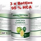 3 x BOTTLES 180 Capsules 3000mg Daily GARCINIA CAMBOGIA HCA 95% Weight Loss Diet VV
