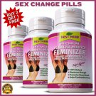 PUERARIA FEMINIZER Pills Breast Enlargement Female Hormone Oestrogen Transsexual ZZ