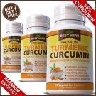ORGANIC TURMERIC 95% CURCUMIN TUMERIC CAPSULES ANTIOXIDANT CURCUMIN PILLS PURE ZZ