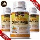 TURMERIC CURCUMIN 95% TUMERIC ANTI INFLAMMATORY CAPSULES ARTHRITIS PAIN RELIEF ZZ