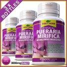 3 BOTTLES * PUERARIA MIRIFICA 3000 * BUST FIRMING BREAST ENLARGEMENT CAPSULES xx