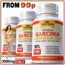 3 BOTTLES 100% PURE GARCINIA CAMBOGIA CAPSULES 95% Max Weight Loss Fat Burner Diet Pills ZX