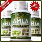 AMLA 180 Capsule Organic Indian Gooseberry Fuller Growth Healthy Hair Nails Pill ZX