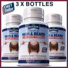 DHT BLOCKER HAIR BEARD LOSS CAPSULES MENS STOP BALDNESS CURE GROW RECEDING PILLS ZX