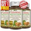 Premium GINSENG GINKGO BILOBA GOTU KOLA Capsules Cognitive Energy Reduce Stress CC