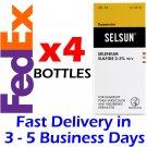 4 x 120ML Selsun 2.5 Anti Dandruff Treatment Shampoo Tinea Versicolor new