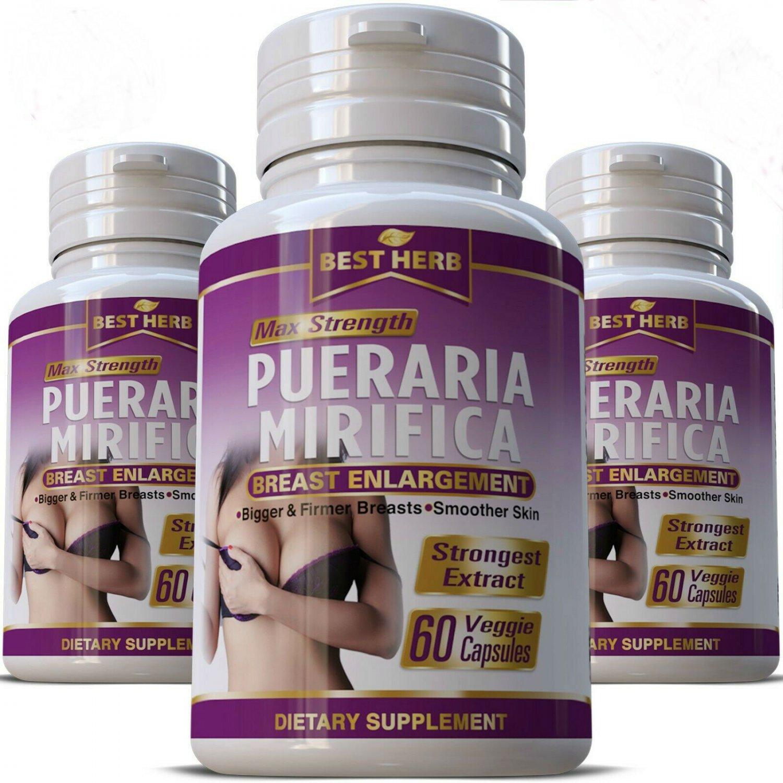 3 Bottles PUERARIA MIRIFICA  Breast Enhancement enlargement Capsules