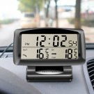 Electronic Clock Temperature Gauge Car Vehicle Thermometer Meter Inside Outside New